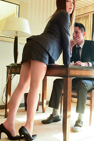 26 year old Sayaka Taniguchi treats us to a scintiliating performance as she gets rimmed, fingered and sucked whilst dressed in her slutty secretary attire before leading her lucky fella to the sheets and submitting her tight puckered hole for ravishment