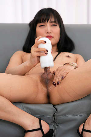 Japan Ladyboy Kaoru Hanayama Cock Masturbation